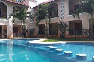 Городок Xpujil и отель Calacmul.