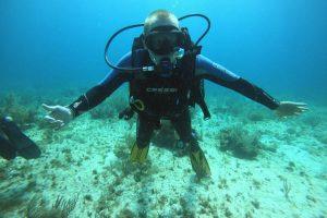 Мой первый дайвинг в подводном музее рядом с Канкуном.