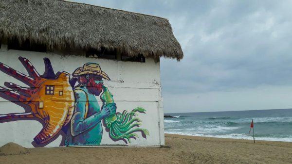 Картины на пляже Zipolite