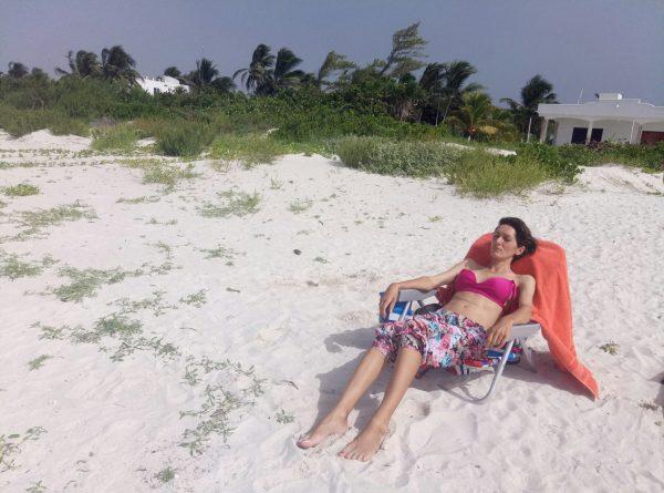 Безлюдные пляжи в Мексике на косе в El Cuyo
