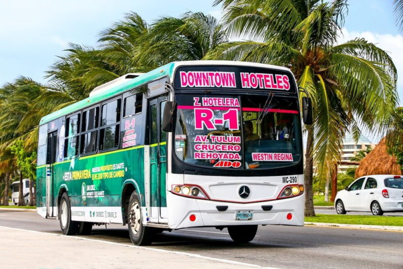Автобусы R1 в Канкуне. Маршрут.