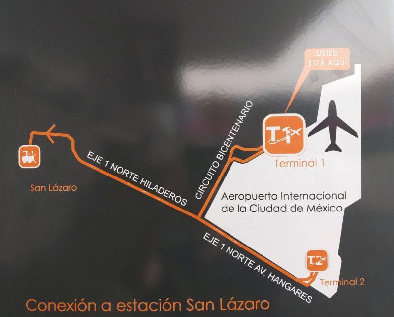 Аэропорт Мехико. Терминал 1 и 2.