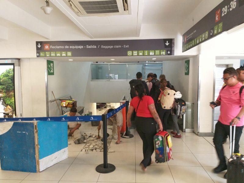 Где получить багаж в аэропорту Мехико ДФ.