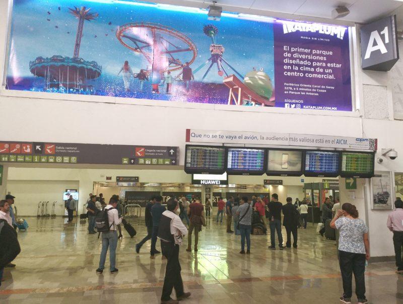 Аэропорт Мехико. Зона прилета местных авиалиний.