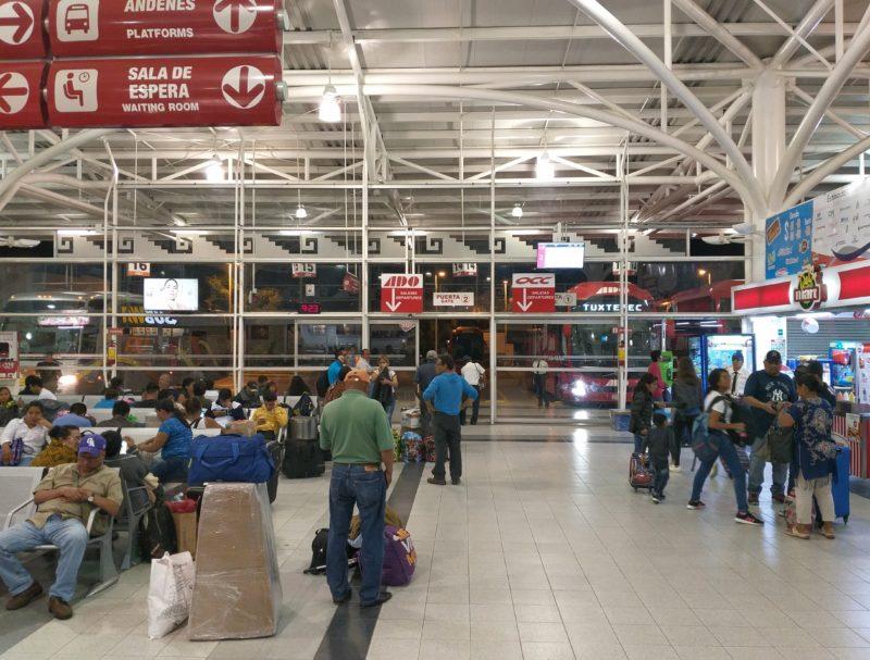 Автовокзал АДО в Оахаке